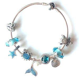 PANDORA Bracelet 'beach blues'